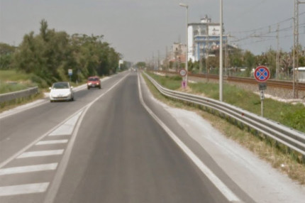 """La statale 16 """"adriatica"""" a Senigallia"""