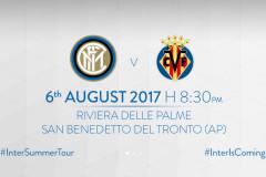 La locandina del match tra Inter e Villareal a San Benedetto del Tronto