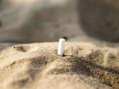 Fumatori in spiaggia, fumo in spiaggia