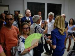 Il villino Romualdo di Trecastelli affollato per la mostra di Leonardo Cemak. Foto di Patrizia Lo Conte