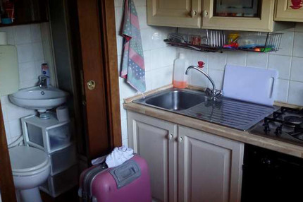 l'appartamento in questione, a Senigallia