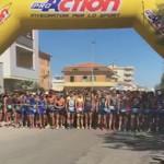 La partenza degli atleti per la Santini TriO Senigallia