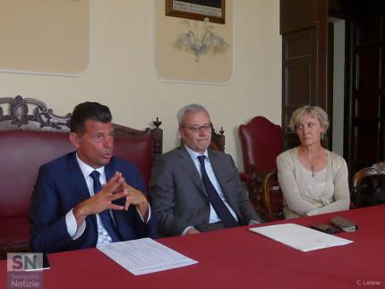 Svolta a Senigallia la riunione del Comitato provinciale per l'ordine e la sicurezza pubblica: da sx Mangialardi, D'Acunto, Serrani