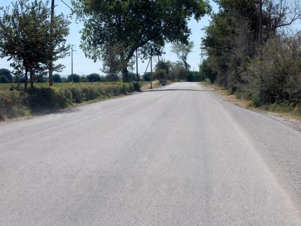Manto stradale rifatto in via Giambattista Fiorini. Foto di Laura D'onofrio