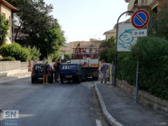 Il luogo dell'incidente in via del Molinello, a Senigallia
