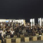 L'allestimento e il pubblico per la settima edizione di Demanio Marittimo.Km-278 a Marzocca di Senigallia