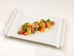 Mezze maniche mancini con ventresca rucola e pomodori e cannellini - ricetta di Michele Bernacchia