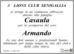 Il manifesto del Lions Club per Armando Casaula
