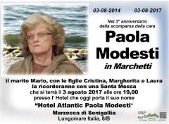 Il manifesto in ricordo di Paola Modesti