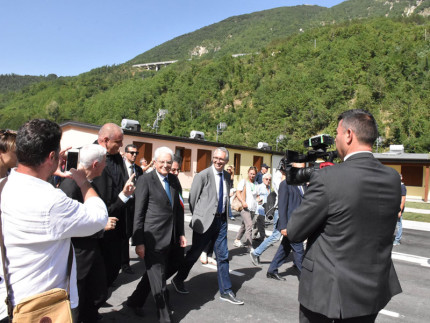 Visita del presidente Mattarella nelle zone colpite dal terremoto dell'agosto 2016