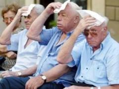 ondate di caldo, calore, estate, rischio, anziani, persone anziane, terza età, salute