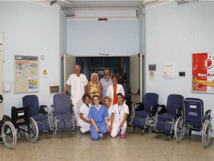 Donazione sedie a rotelle