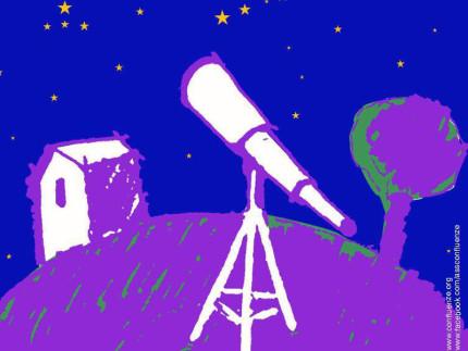La locandina dell'evento Notte Spaziale 2017 al Vallone di Senigallia grazie a Confluenze