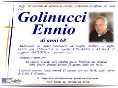 Il manifesto funebre per Ennio Golinucci