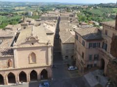 Ostra, vista panoramica dalla torre civica di piazza dei Martiri