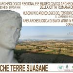 La locandina del Parco Archeologioco della città romana di Suasa e delle strutture collegate