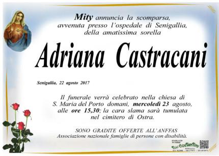 Adriana Castracani, necrologio