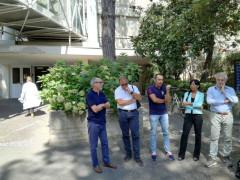 La visita dei consiglieri all'ospedale di Senigallia