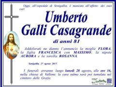 Necrologio Umberto Galli Casagrande