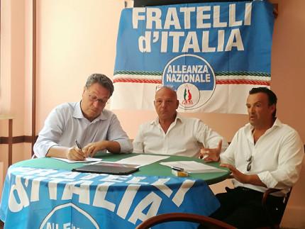 Gli esponenti di Fratelli d'Italia Carlo Ciccioli, Marcello Liverani e Lorenzo Rabini intervengono sul tema alluvione di Senigallia