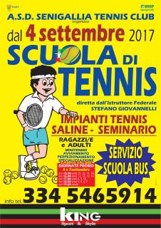 Scuola Tennis 2017/18 organizzata dal Senigallia Tennis Club