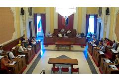 Una seduta del consiglio comunale di Senigallia