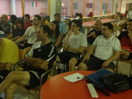 Corso tecnico al Centro Olimpico Tennistavolo di Senigallia