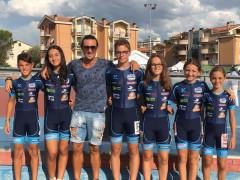 Gli atleti del Team Roller Senigallia dopo le gare di Pollenza