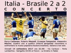 Italia - Brasile 2 a 2 - concerto a La Sinistra in Festa 2017