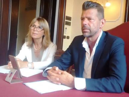 Simonetta Bucari e Maurizio Mangialardi alla conferenza stampa di presentazione dell'anno scolastico 2017/2018