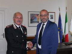 Il Generale Antonio Ricciardi ha incontrato Antonio Mastrovincenzo