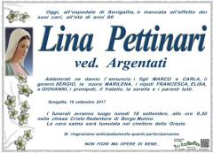 Necrologio Lina Pettinari