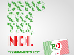 Campagna tesseramento 2017 nel PD