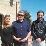 Il regista russo Aleksandr Sukorov in visita ad Arcevia, accompagnato dal sindaco Andrea Bomprezzi e dall'assessore alla cultura Laura Coppa