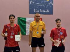 I vincitori del torneo open maschile al centro olimpico tennistavolo di Senigallia del 17 settembre 2017