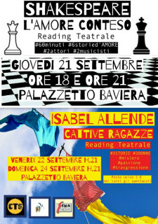 Reading teatrali al palazzetto Baviera