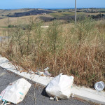 I rifiuti abbandonati lungo strada provinciale sp 2 Sirolo-Senigallia