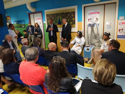 L'inaugurazione a Senigallia per il progetto Paxman verso i malati oncologici