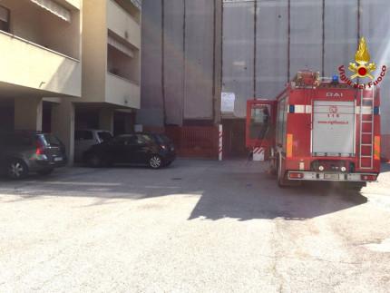 Intervento dei Vigili del fuoco a Osimo stazione