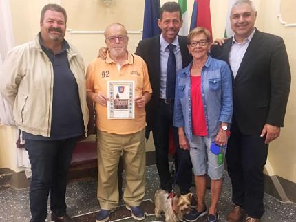 Ugo Bellicci premiato per la fedeltà come turista a Senigallia