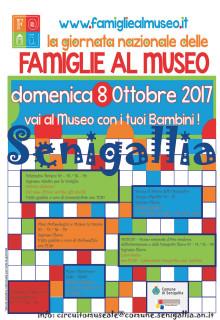Giornata Nazionale delle Famiglie al Museo a Senigallia - locandina