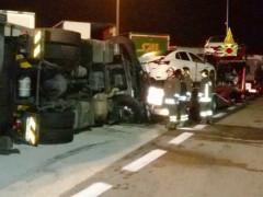 incidente nell'area di servizio Metauro Est