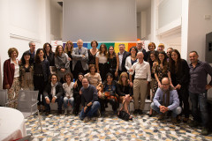 Promotori e alcuni partecipanti alla Cena Sconfinanti