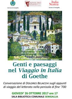 Conferenza sul Viaggio in Italia di Goethe - locandina