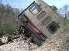 Treno deragliato, incidente ferroviario