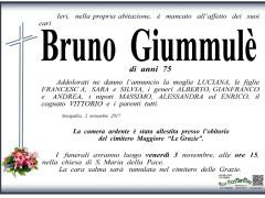 E' mancato all'effetto dei suoi cari Bruno Giummulè