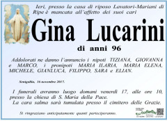 Necrologio Gina Costantini
