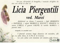 Necrologio Licia Piergentili