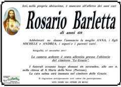 E' mancato ai suoi cari Rosario Barletta