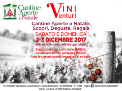 Vini Venturi partecipa a Cantine Aperte a Natale il 2 e 3 dicembre 2017